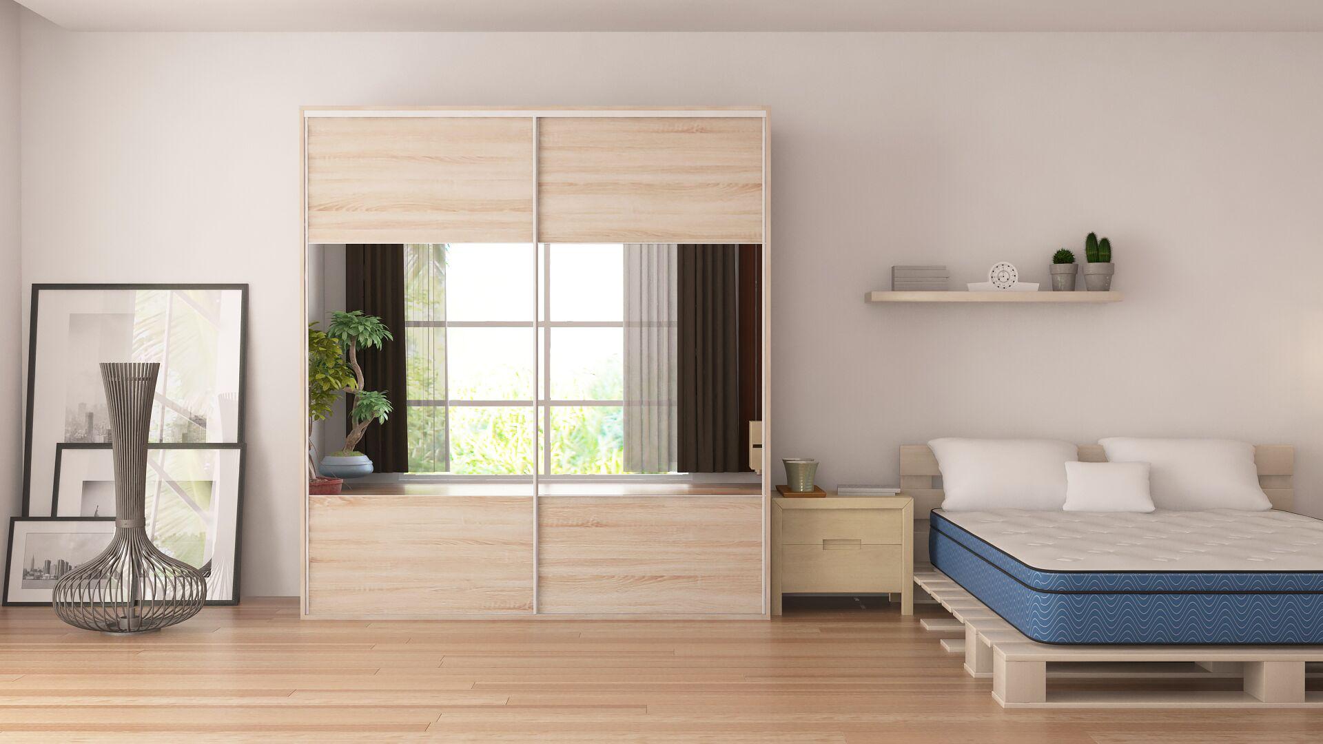 Zamorano Armoire with Mirror Sliding Doors