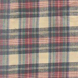 Cream Tartan Plaid Twin Bed Skirt / Dust Ruffle Size: King