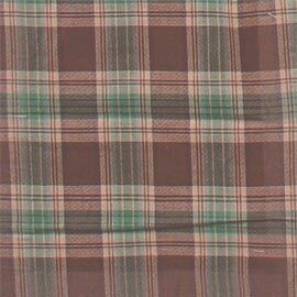 Brown and Green Plaid Bed Skirt / Dust Ruffle Size: King