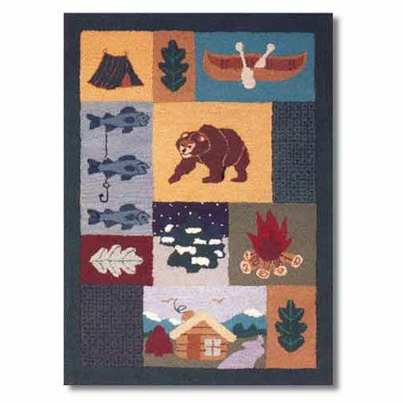 Cabin Area Rug Rug Size: Rectangle 3'10