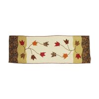 Autumn Leaves Bed Scarf Size: Queen