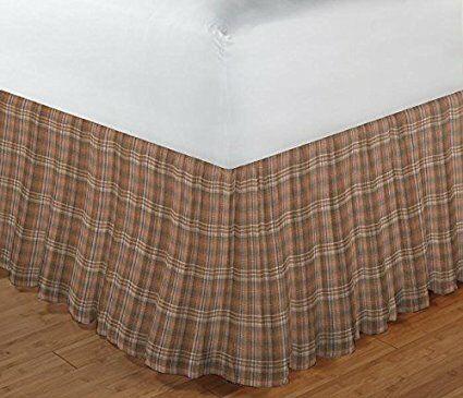Wilson Checked Fabric Dust Ruffle Bed Skirt