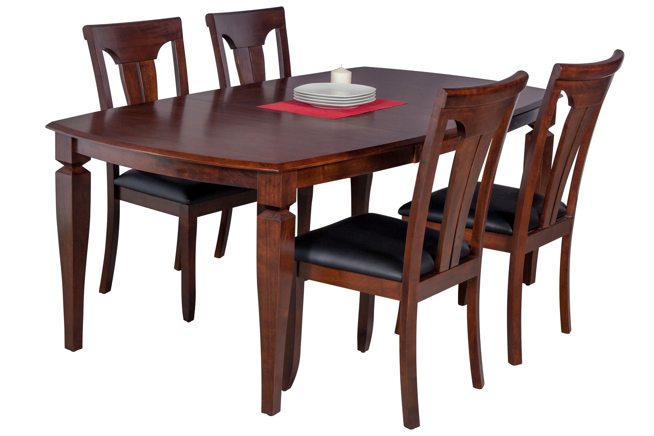 Dining Table Sets Besse 5 Piece Breakfast Nook Solid Wood Dining Set