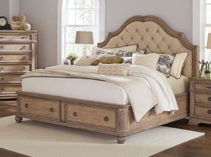 Leffel Storage Platform Bed Color: Antique Linen, Size: King