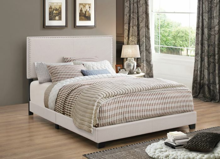 Sheldon Upholstered Panel Bed Color: Ivory, Size: Queen