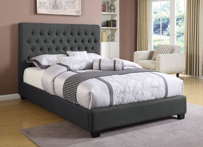 Shepley Panel Bed Color: Charcoal, Size: King