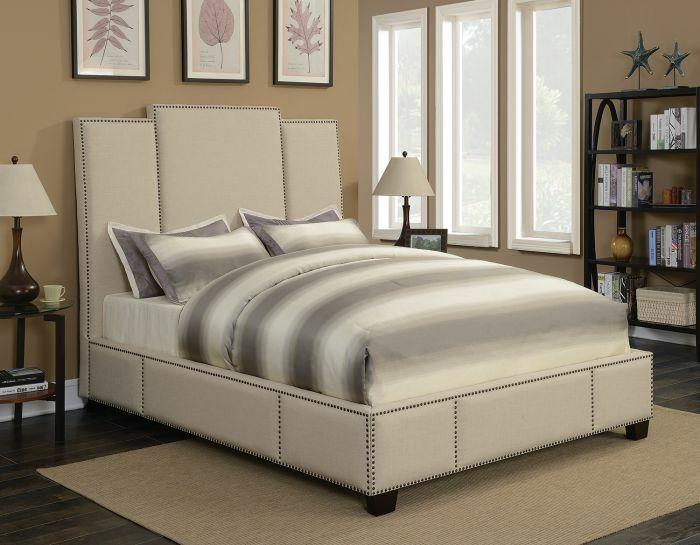 Yerger Upholstered Panel Bed Color: Beige, Size: Califonia King