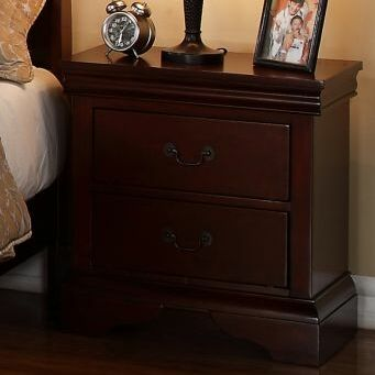 Bois 2 Drawer Nightstand Color: Cherry