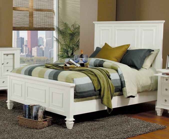 Tuohy Panel Bed Color: White, Size: Queen