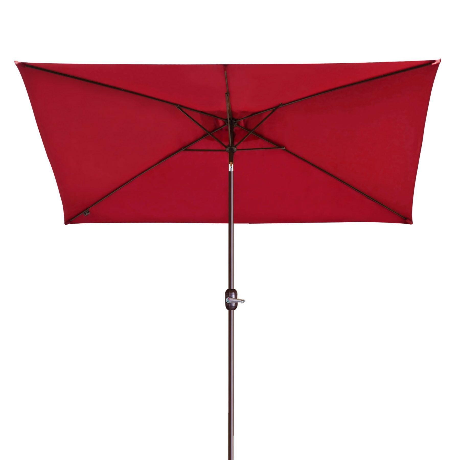 Bickford Outdoor Garden Patio Market Umbrella Fabric Color: Burgundy