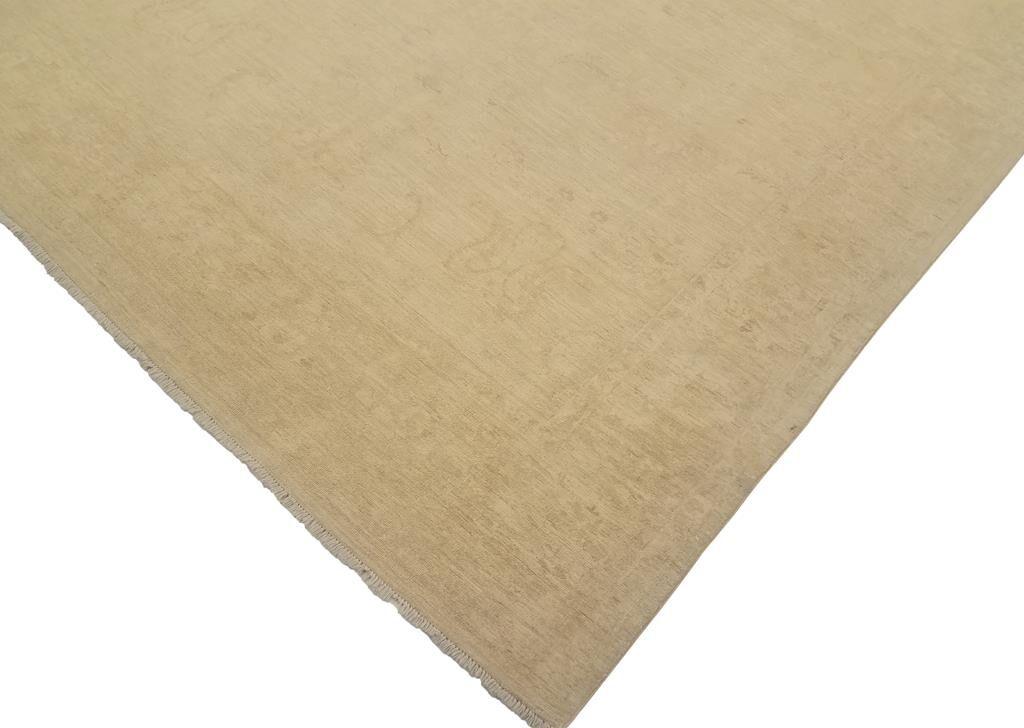 Adalrik Hand-Knotted Wool Tan Area Rug