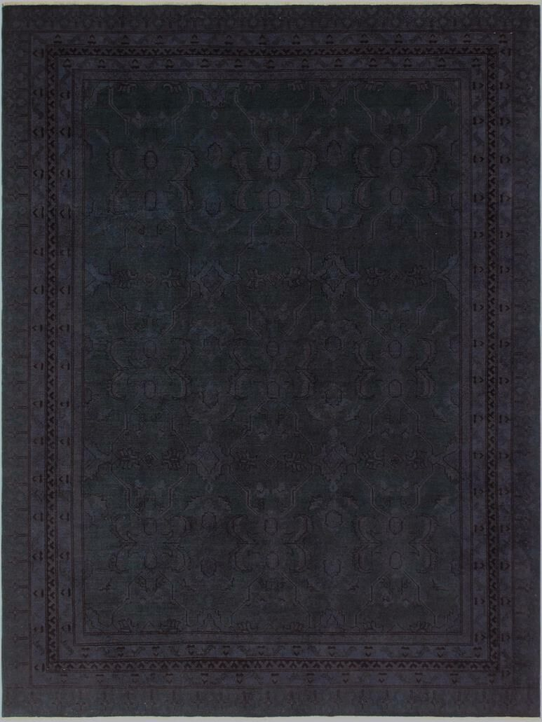 Badillo Hand-Knotted Wool Green Area Rug