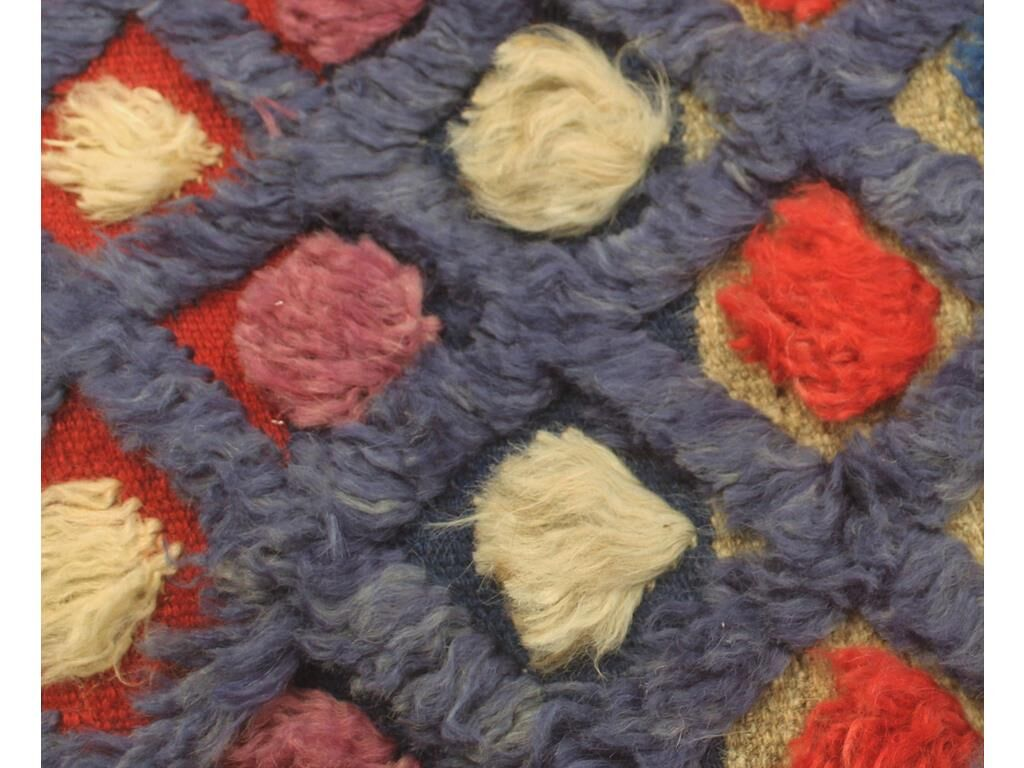 One-of-a-Kind Bakerstown Moroccan Hand-Knotted Wool Purple/Red Area Rug