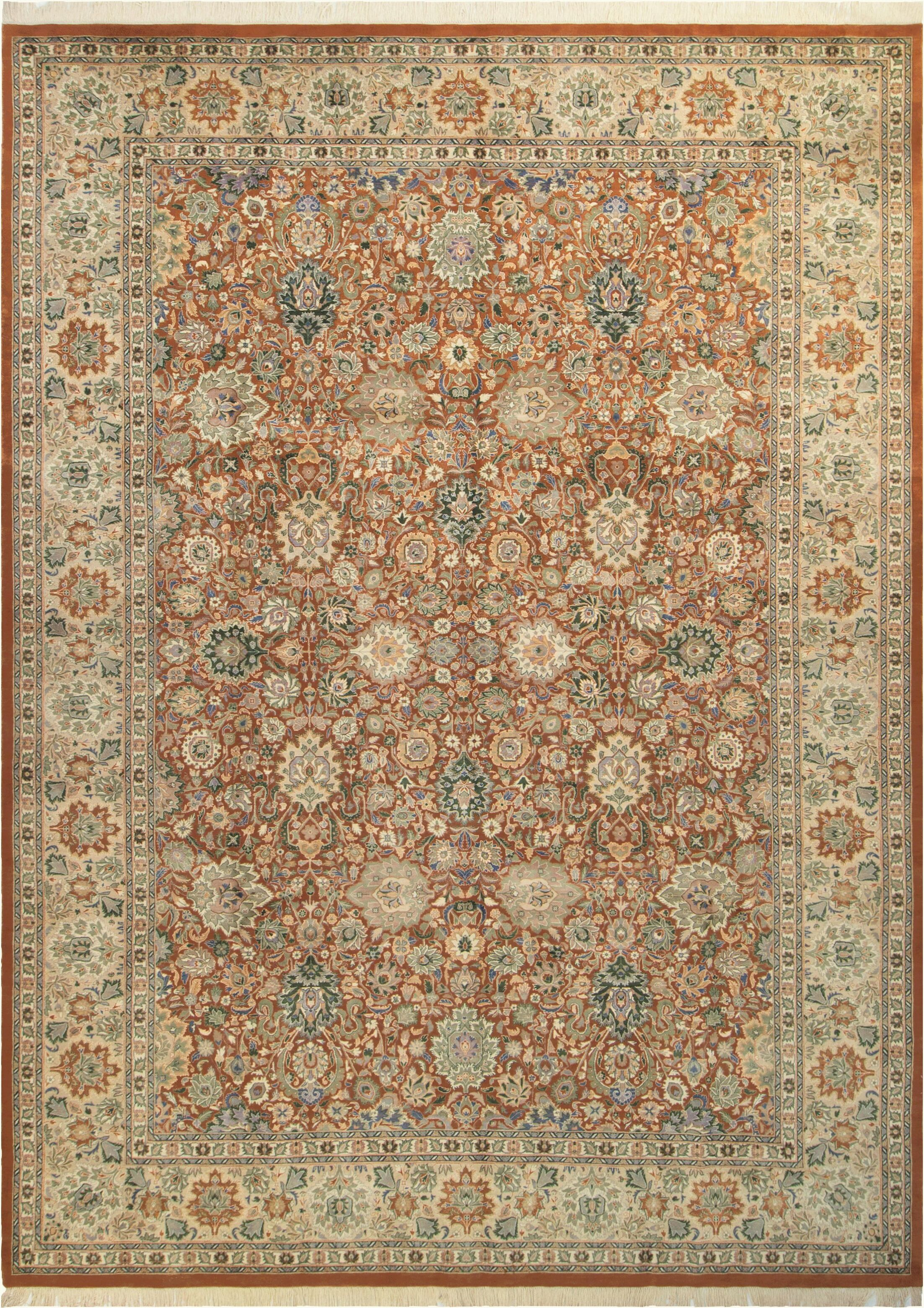 Bellomy Lahore Hand-Knotted Wool Rust/Tan Area Rug