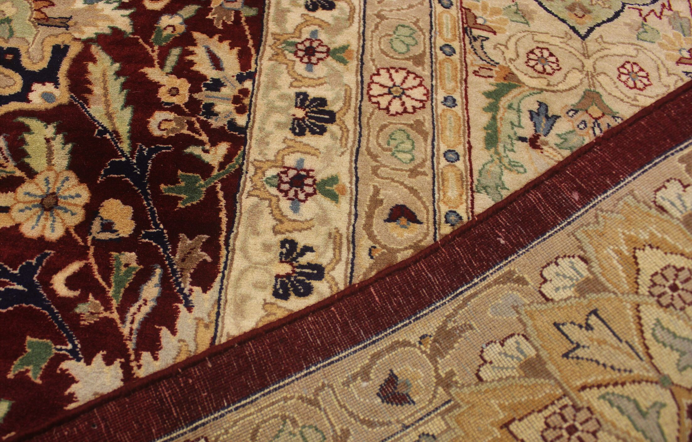 Bellomy Lahore Hand-Knotted Wool Red/Tan Area Rug