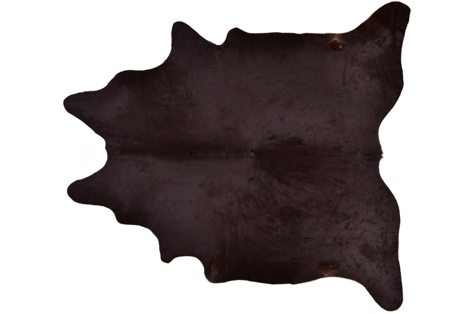 Askew Hand-Woven Cowhide Brown Area Rug