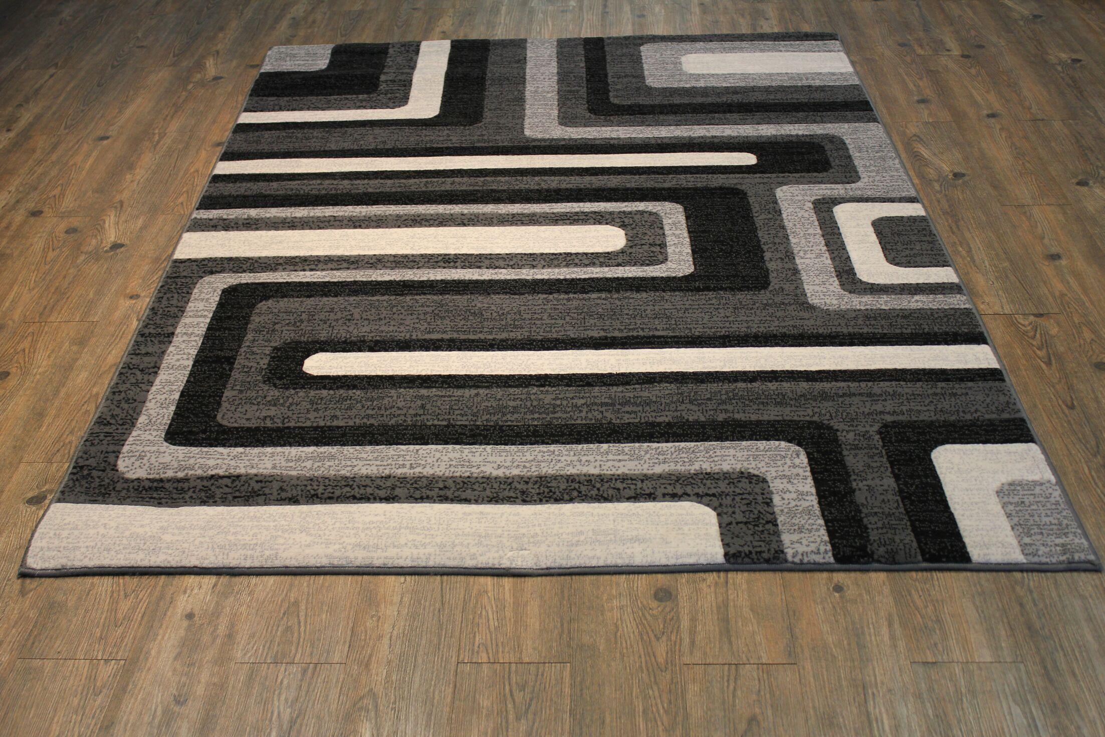 Yarbro Gray Indoor Area Rug Rug Size: Rectangle 5' x 8'