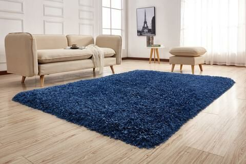 Pawlak Hand-Tufted Navy Area Rug Rug Size: Rectangle 7'6
