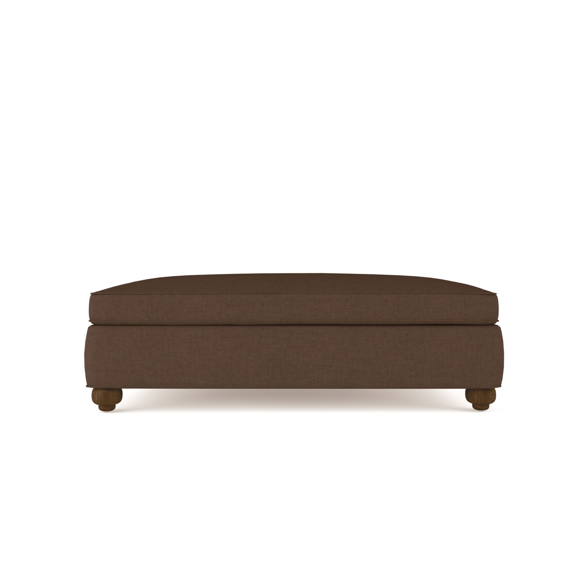 Austin Table Ottoman Upholstery: Brown