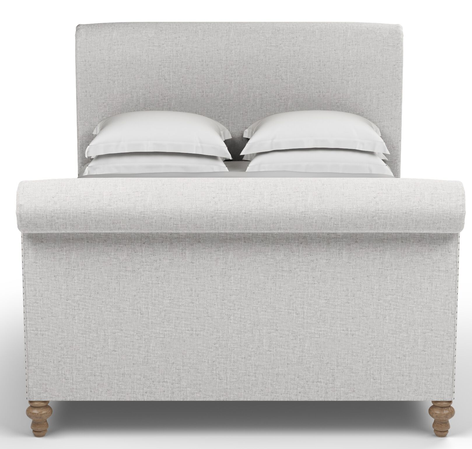 Audley Scroll Upholstered Sleigh Bed