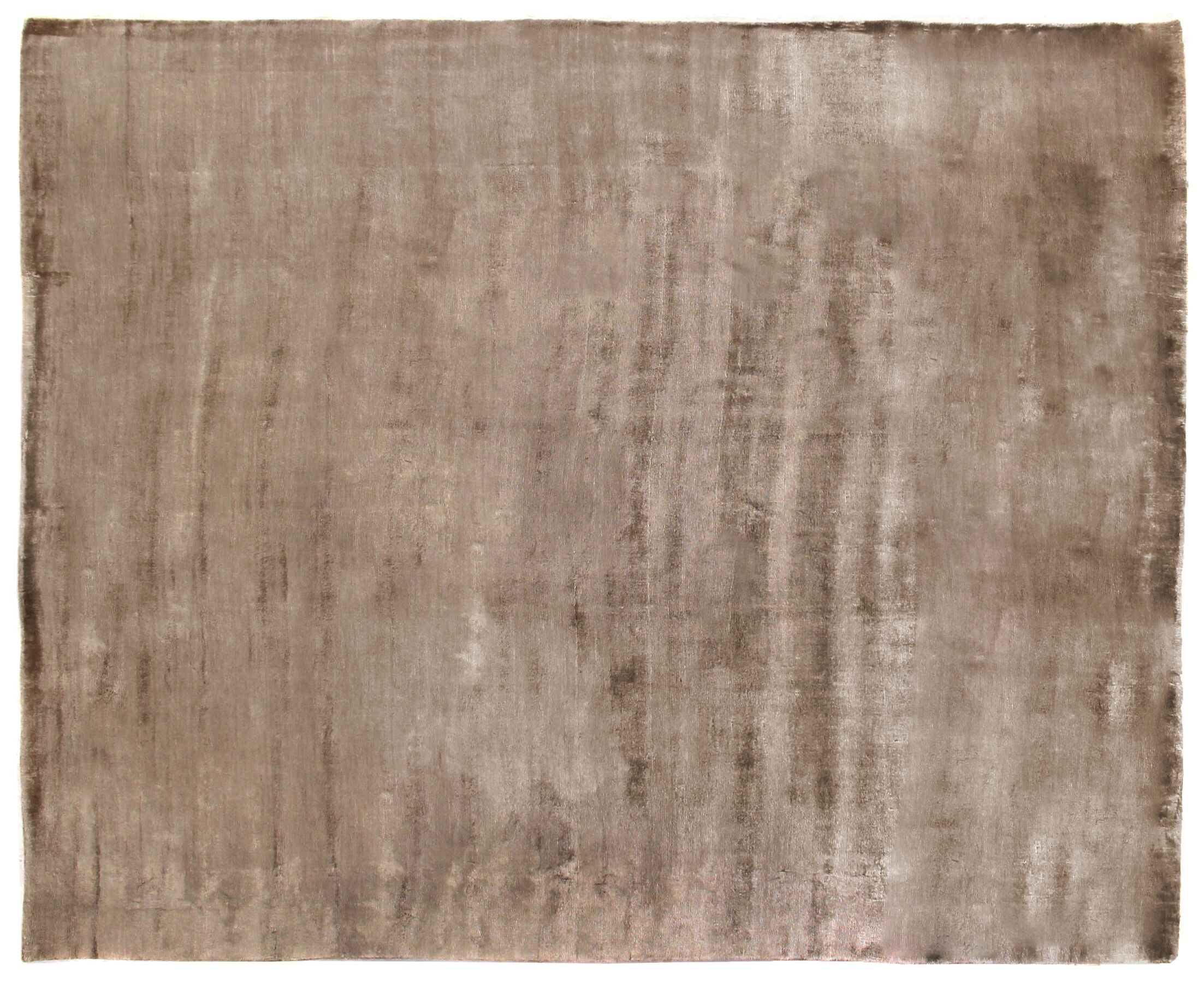 Purity Hand-Knotted Silk Brown Area Rug Rug Size: Rectangle 14' x 18'
