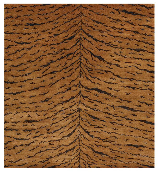 Metropolitan Hand Knotted Wool Bronze Area Rug Rug Size: Rectangle 6' x 9'