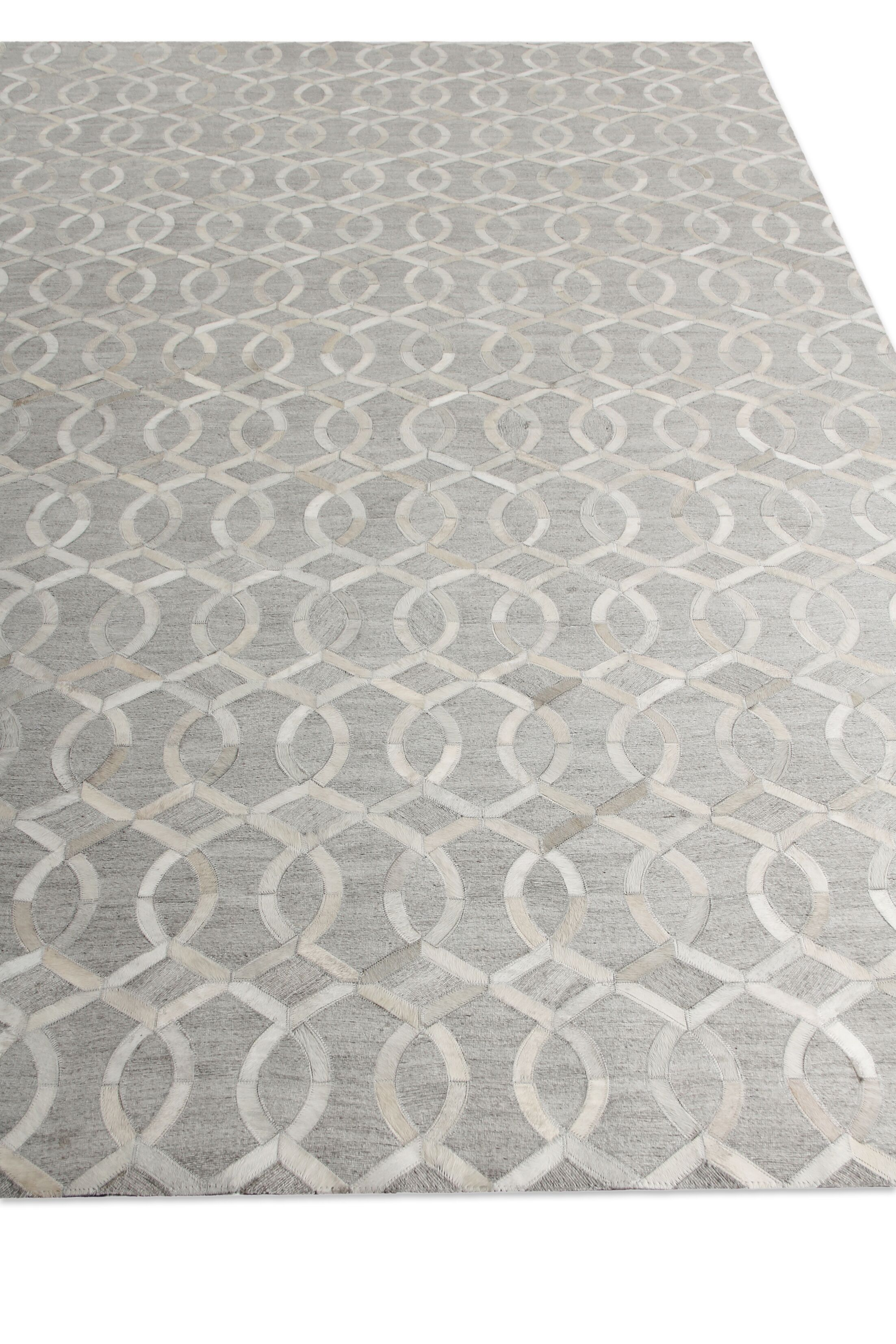 Berlin Silver/Ivory Area Rug Rug Size: Rectangle 9'6