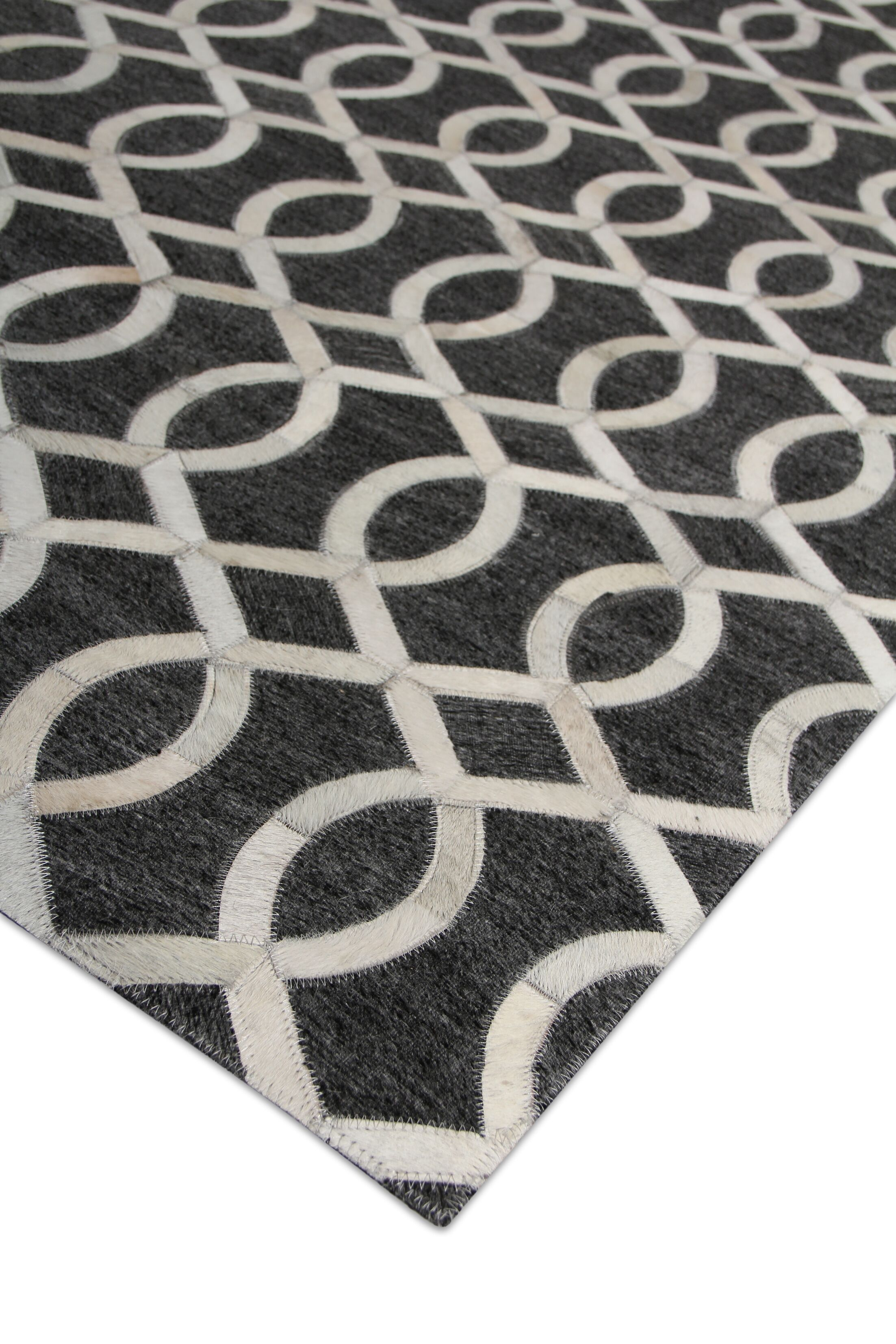 Berlin Charcoal/Ivory Area Rug Rug Size: Rectangle 9'6