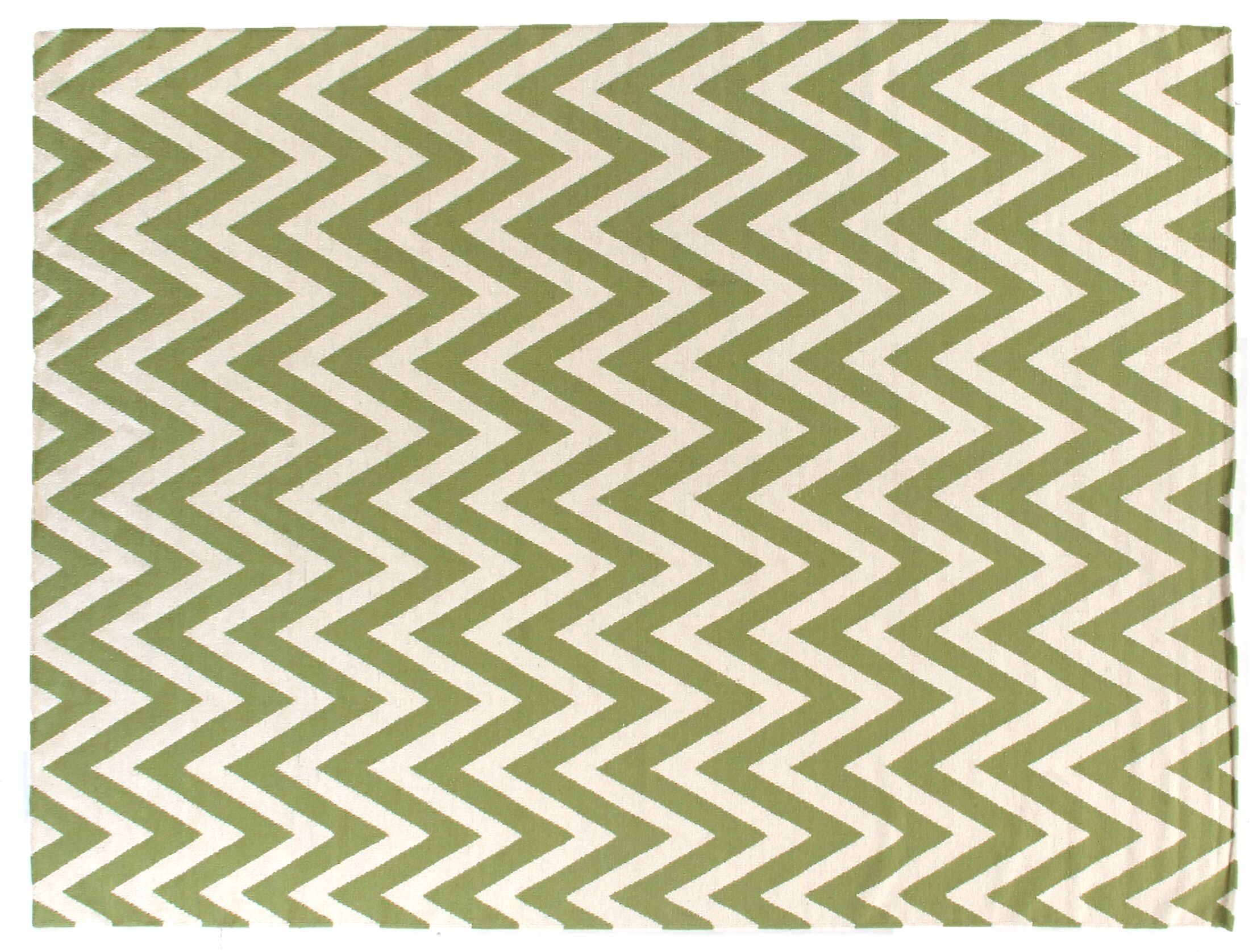 Hand-Woven Wool Light Green/Cream Area Rug Rug Size: Rectangle 9'6
