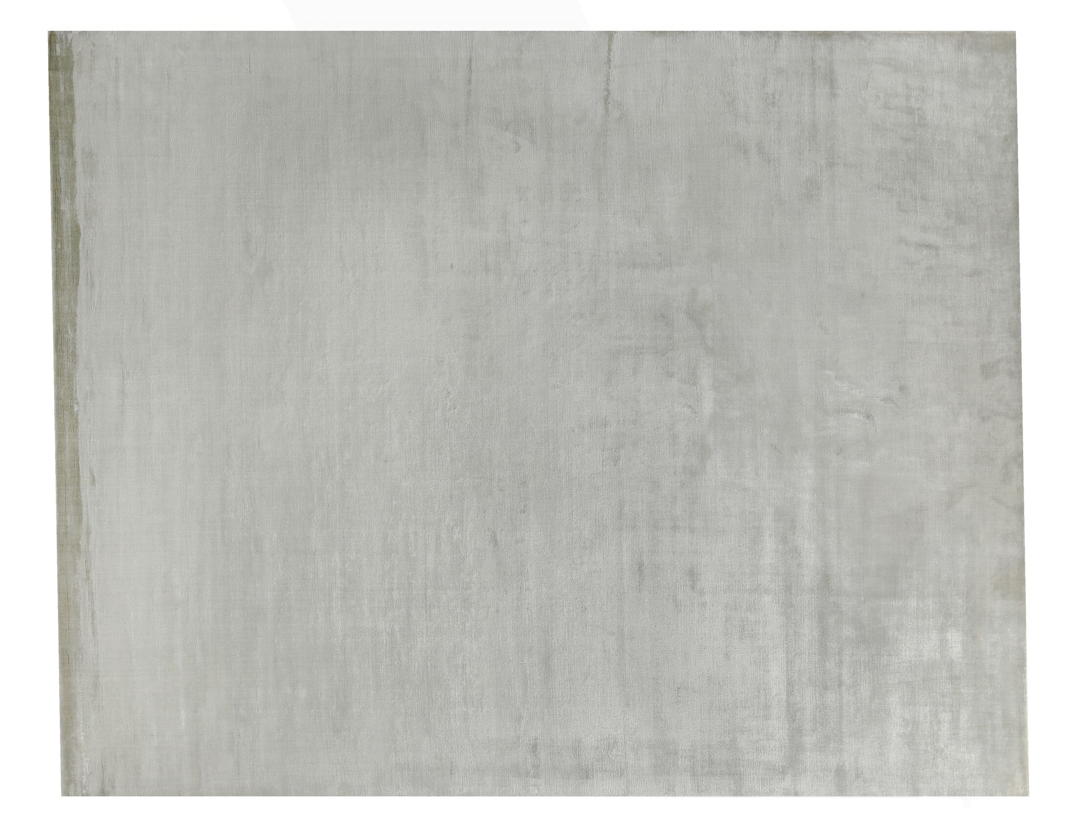 Plain Dove Hand-Knotted Silk Gray Area Rug Rug Size: Rectangle 10' x 14'