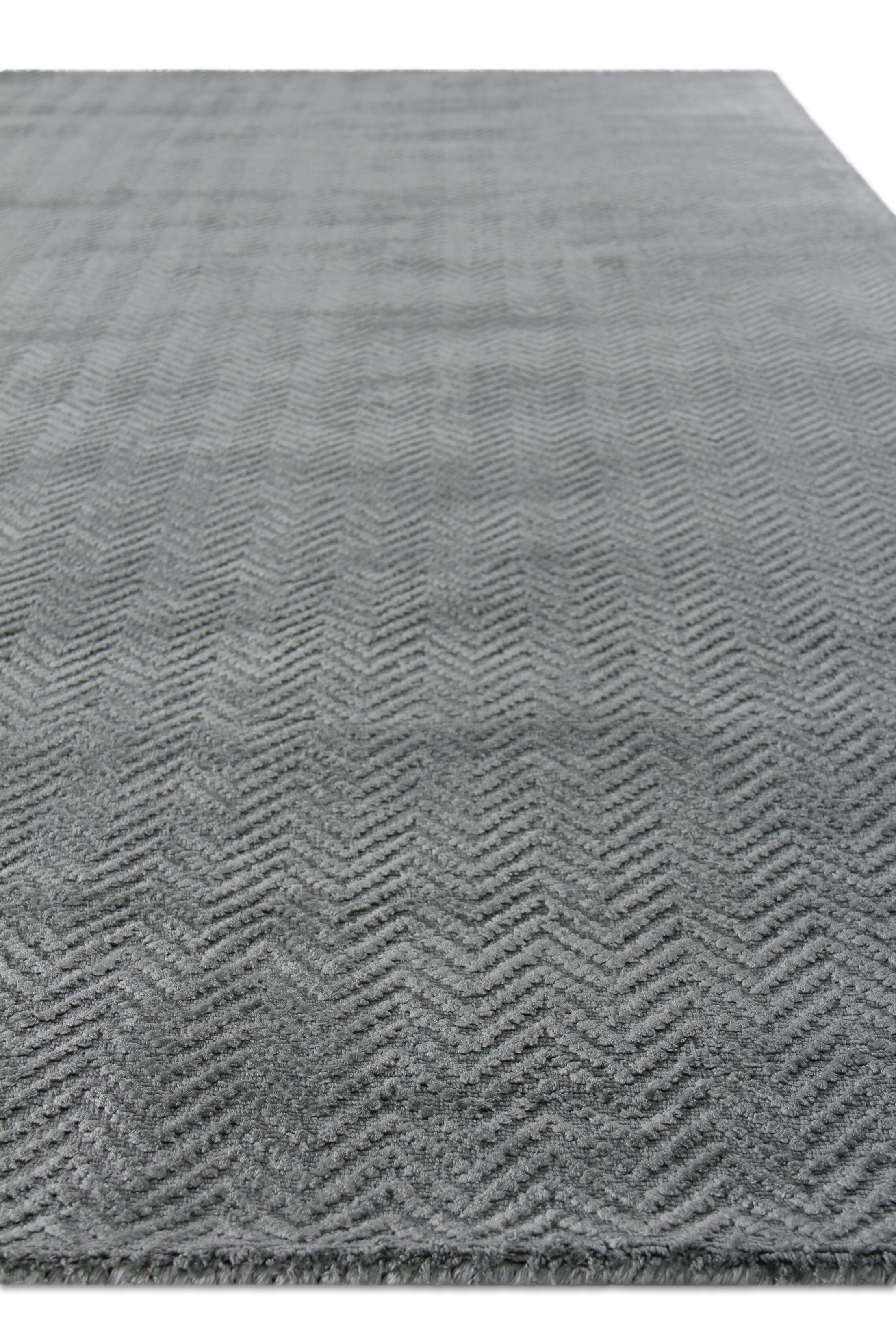 Pavo Hand-Woven Gray Area Rug Rug Size: Rectangle 9' x 12'