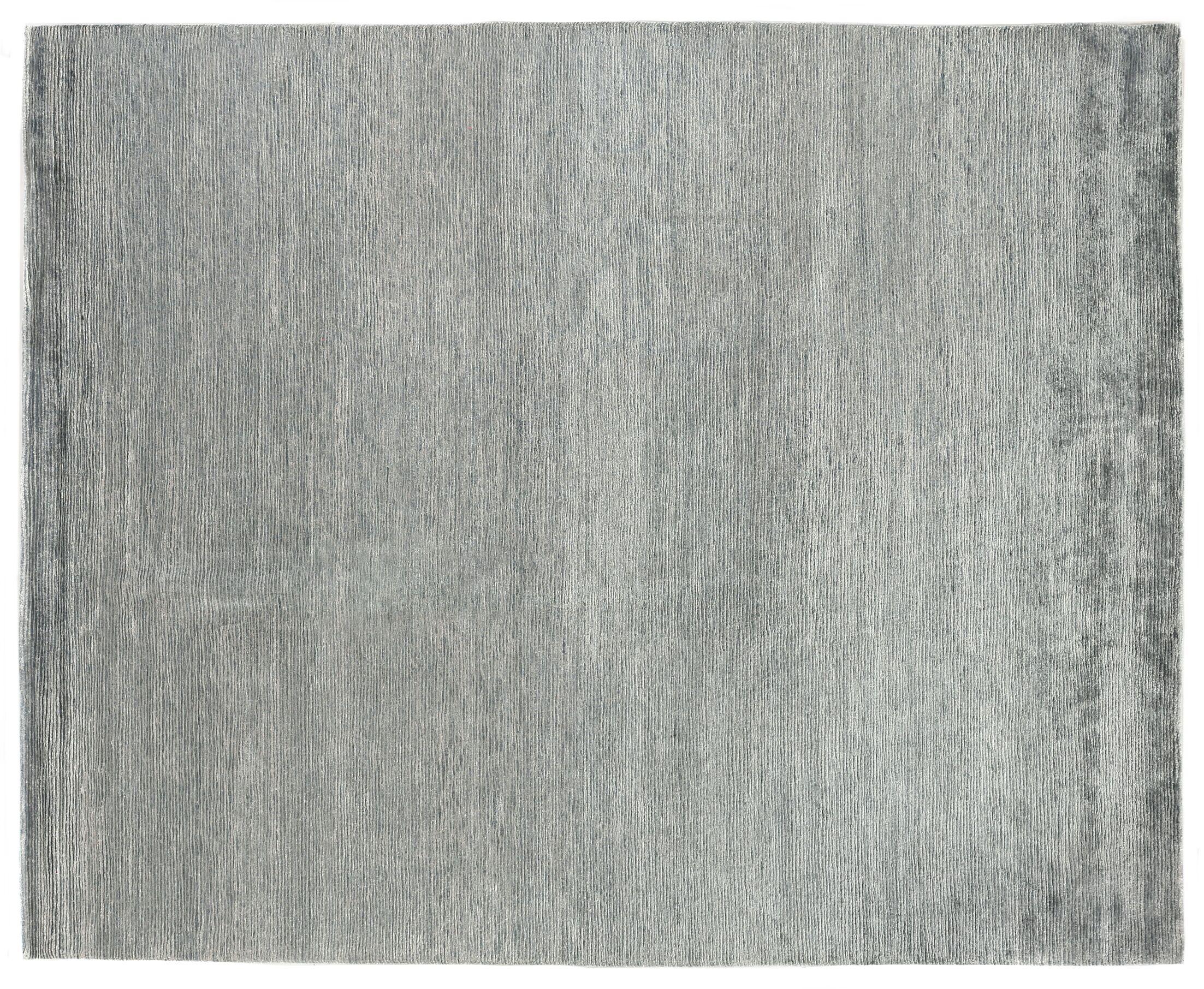 Crush Hand Knotted Silk Aqua/Dark Aqua Area Rug Rug Size: Rectangle 8' x 10'
