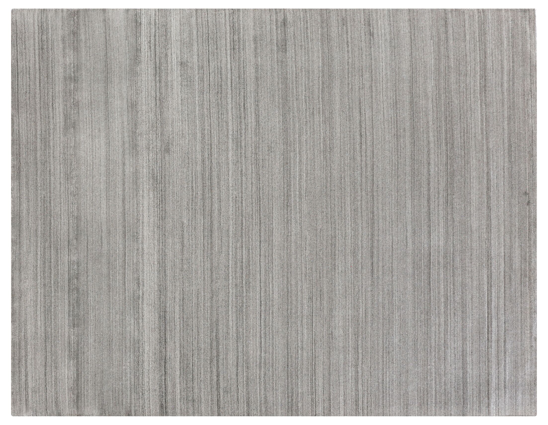 Sanctuary Hand Woven Silk Gray Area Rug Rug Size: Rectangle 8' x 10'