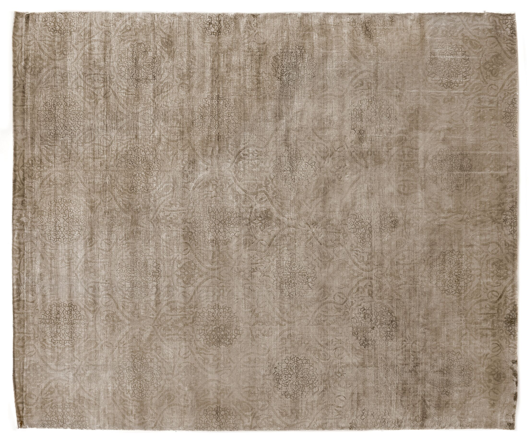 Koda Hand-Woven Beige Area Rug Rug Size: Rectangle 10' x 14'