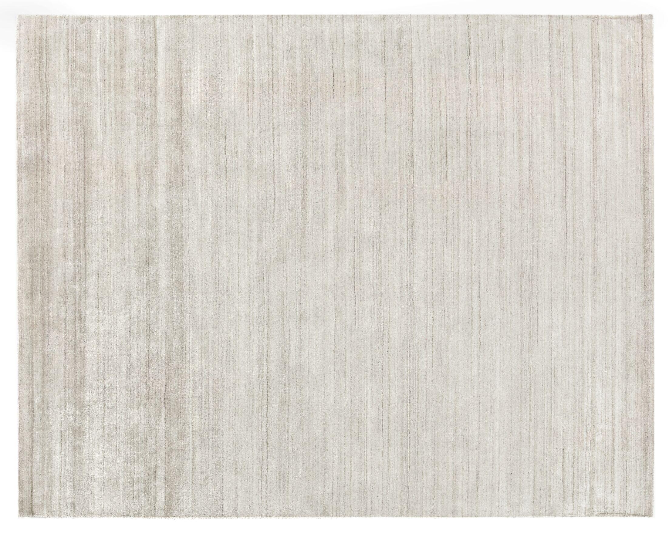 Sanctuary Hand Woven Silk Beige Area Rug Rug Size: Rectangle 9' x 12'