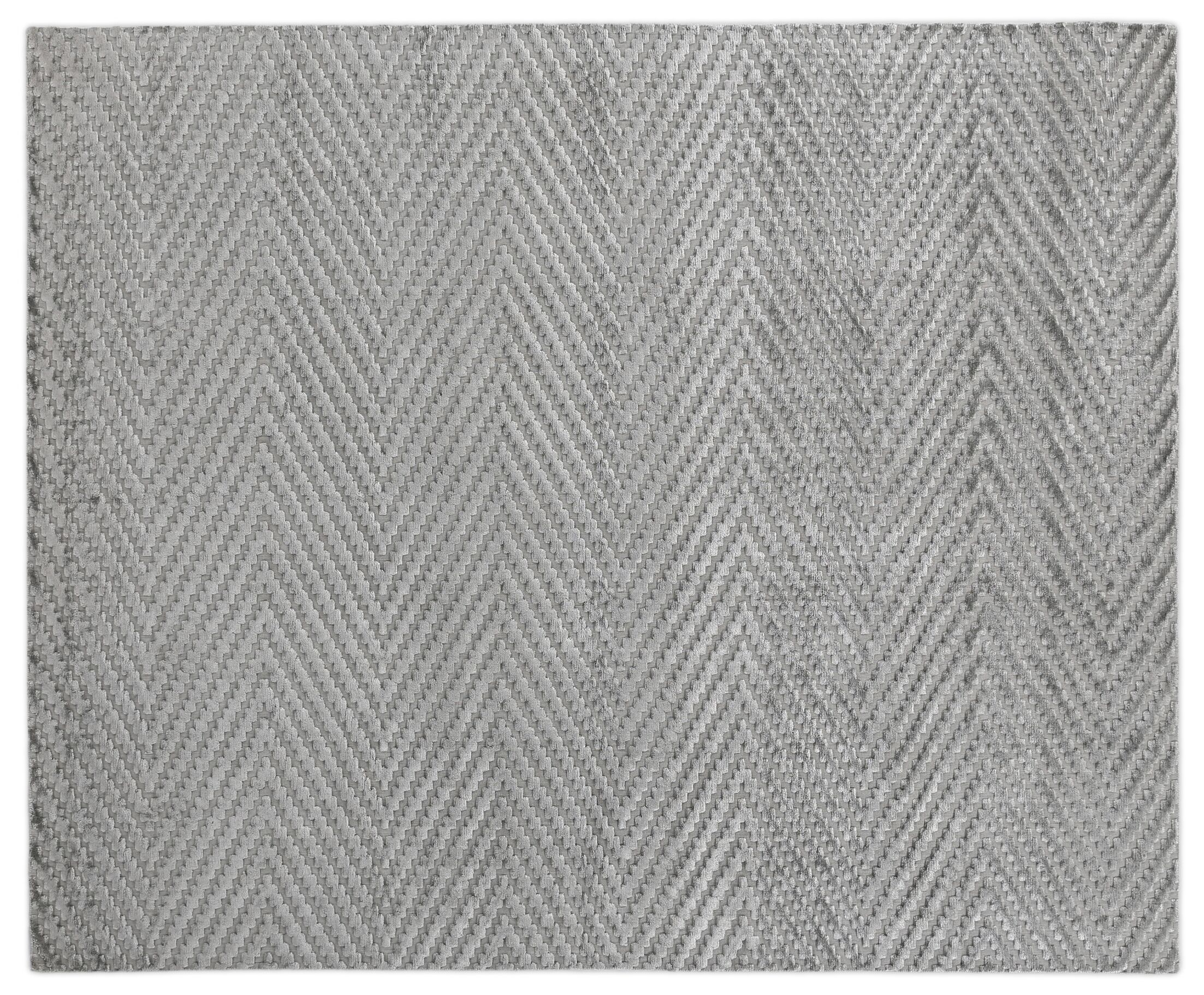 Kingsley Hand-Woven Gray Area Rug Rug Size: Rectangle 10' x 14'