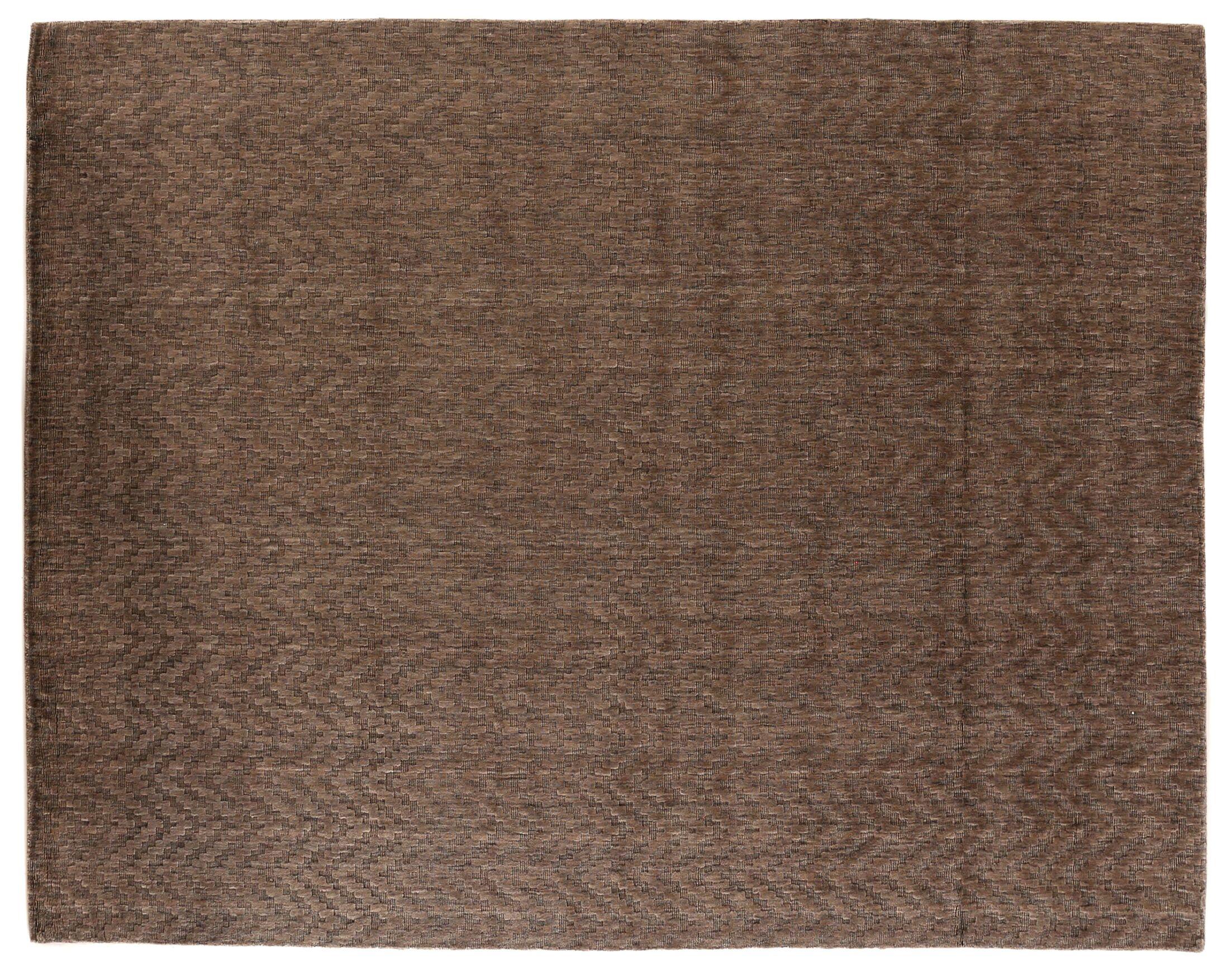 Demani Hand-Woven Wool Brown Area Rug Rug Size: Rectangle 12' x 15'
