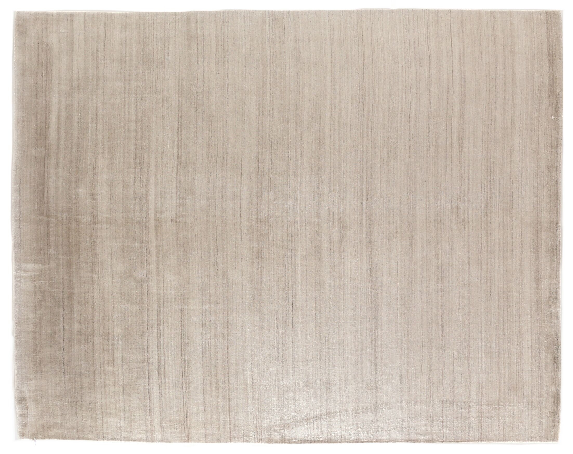 Sanctuary Hand Woven Silk Light Beige Area Rug Rug Size: Rectangle 12' x 15'
