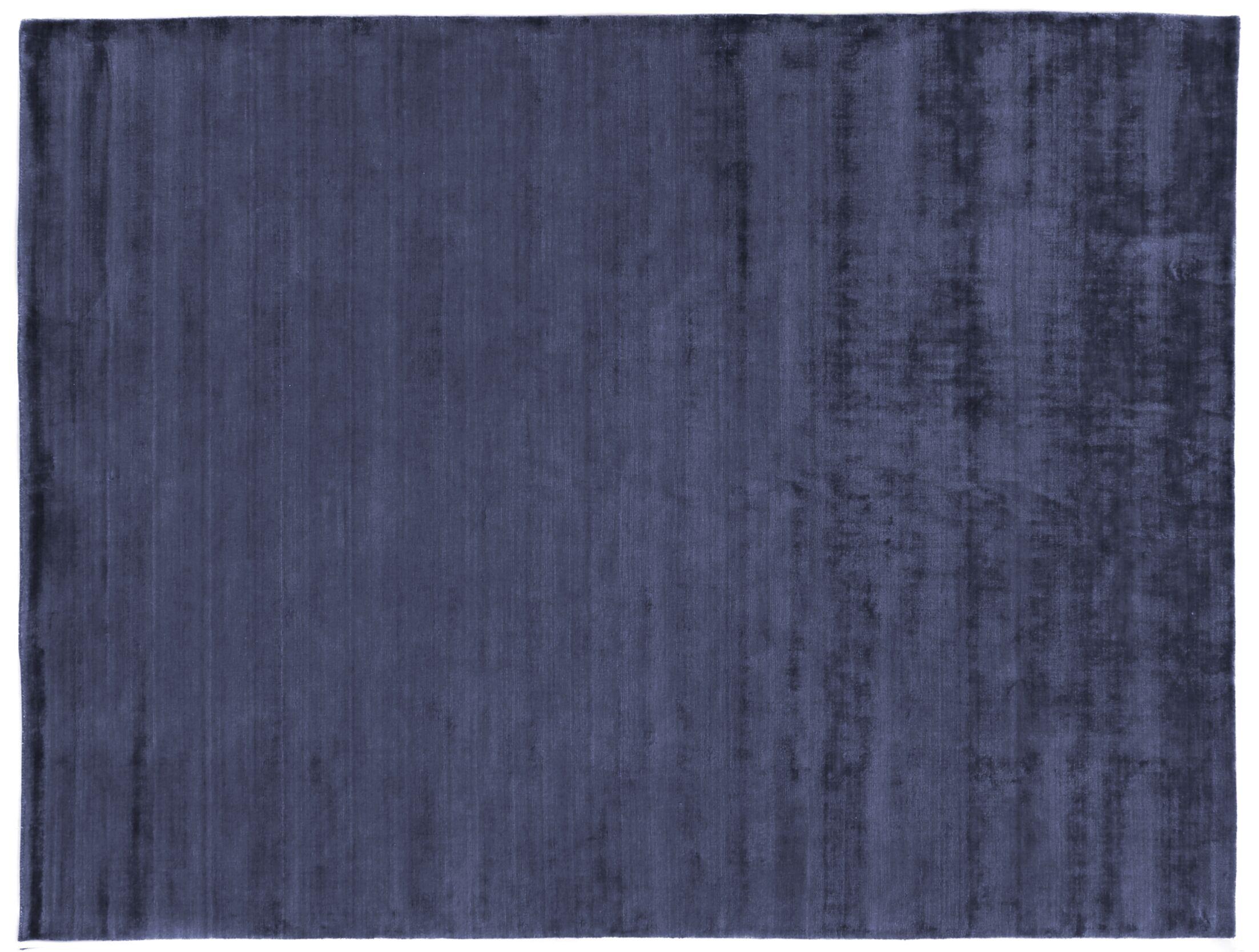 Purity Hand-Woven Silk Dark Blue Area Rug Rug Size: Rectangle 9' x 12'