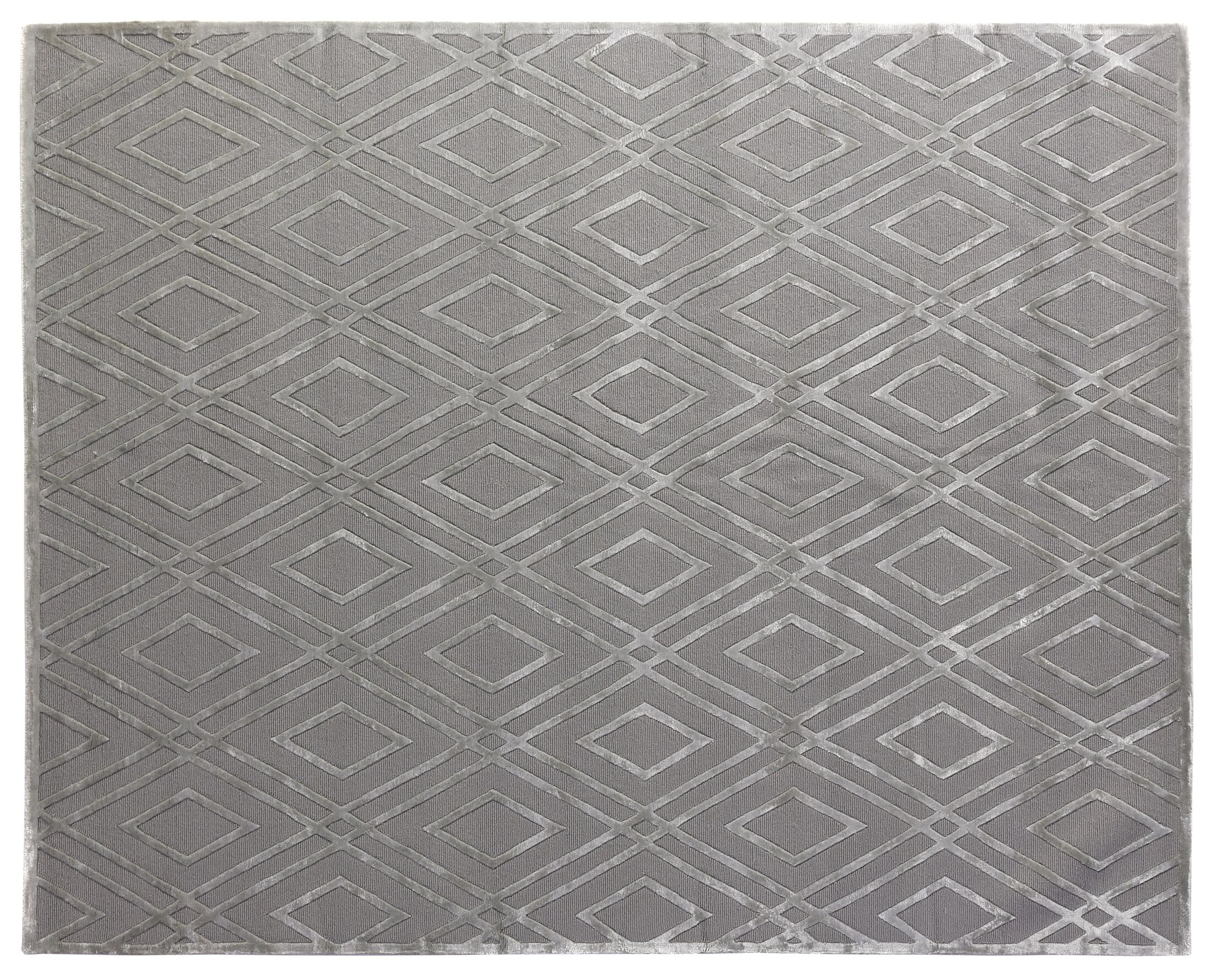 Metro Hand-Knotted Gray Area Rug Rug Size: Rectangle8' x 10'