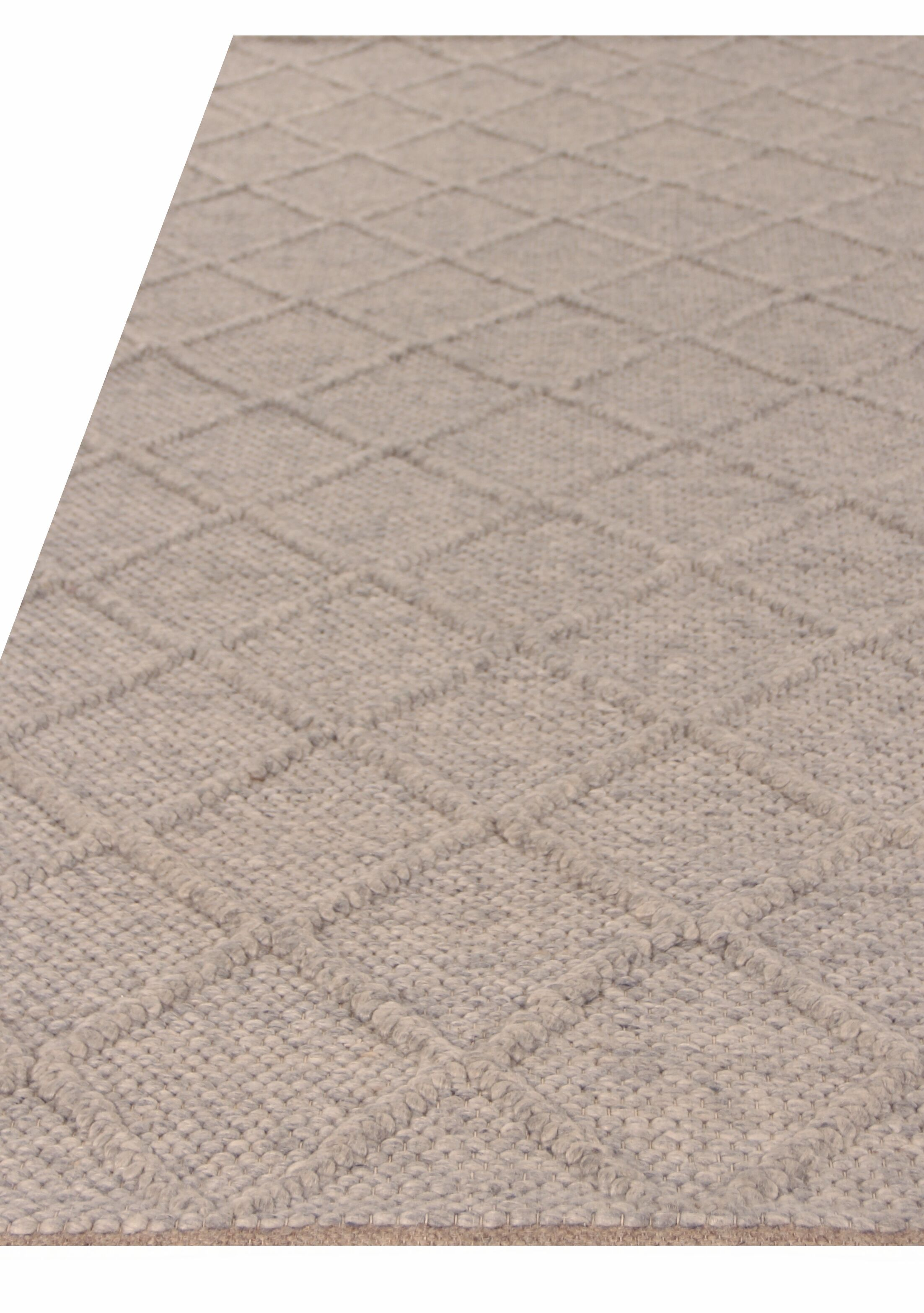 Brentwood Hand Woven Wool Gray Area Rug Rug Size: Rectangle 8' x 10'