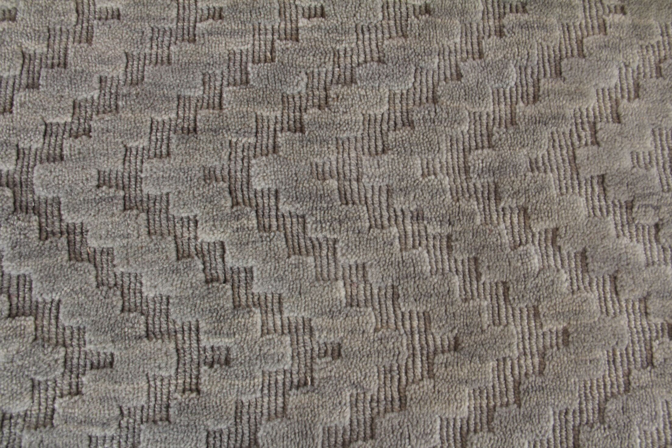 Demani Hand Woven Wool Gray Area Rug Rug Size: Rectangle 9' x 12'