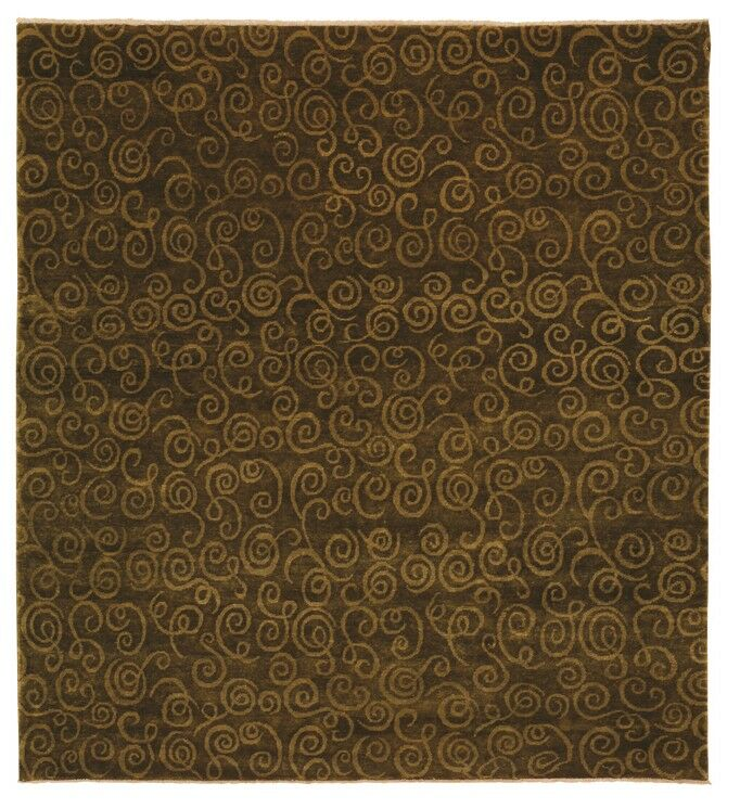 Metropolitan Hand Knotted Wool Sage Green Area Rug Rug Size: Rectangle 8' x 10'