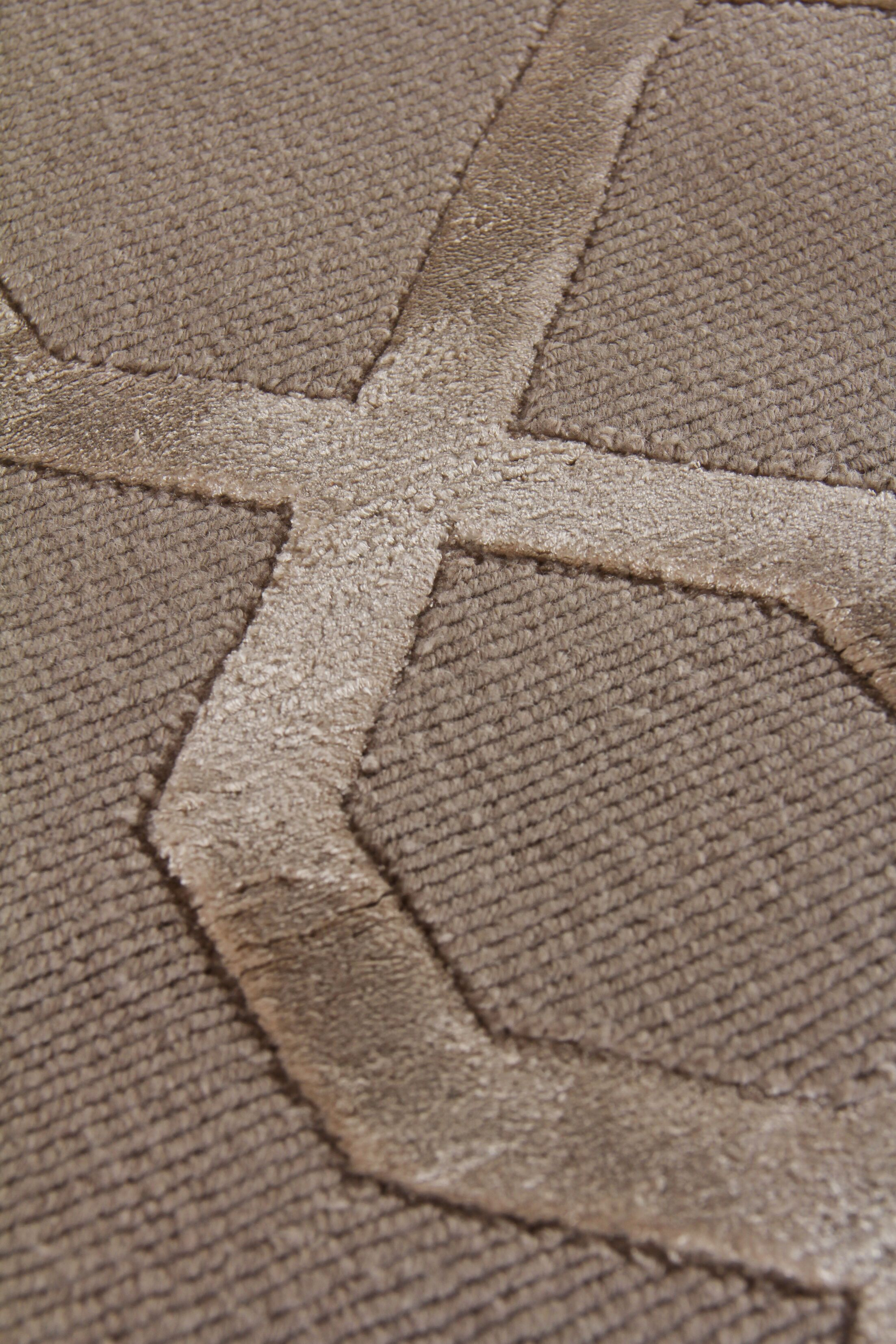 Hand-Knotted Wool/Silk Brown Area Rug Rug Size: Rectangle 12' x 15'