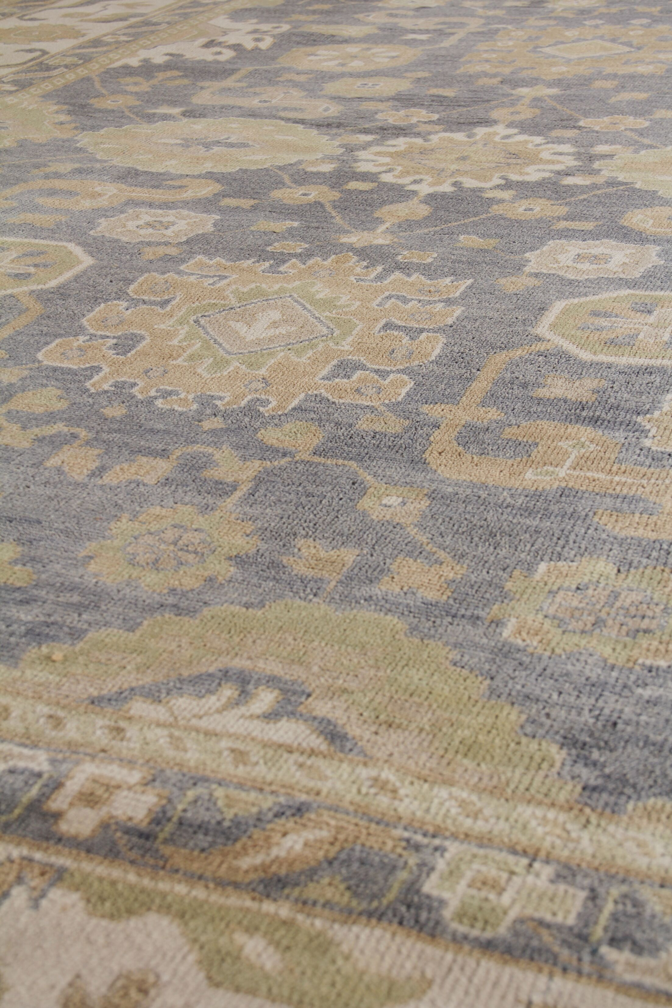 Ousha Hand-Knotted Wool Dark Gold/Ivory Area Rug Rug Size: Rectangle 12' x 15'