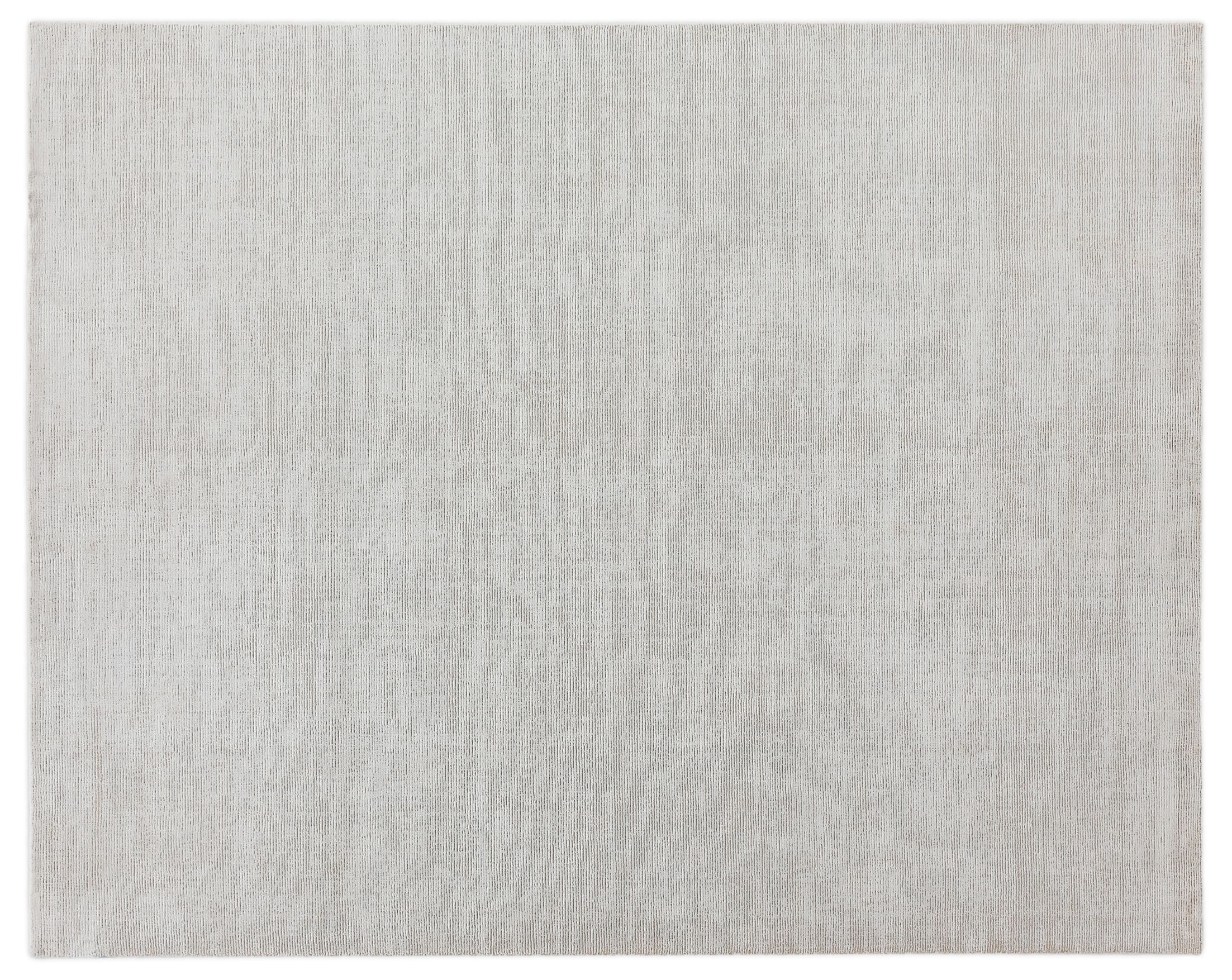 Duo Hand-Loomed Wool/Silk White/Beige Area Rug Rug Size: Rectangle 14' x 18'