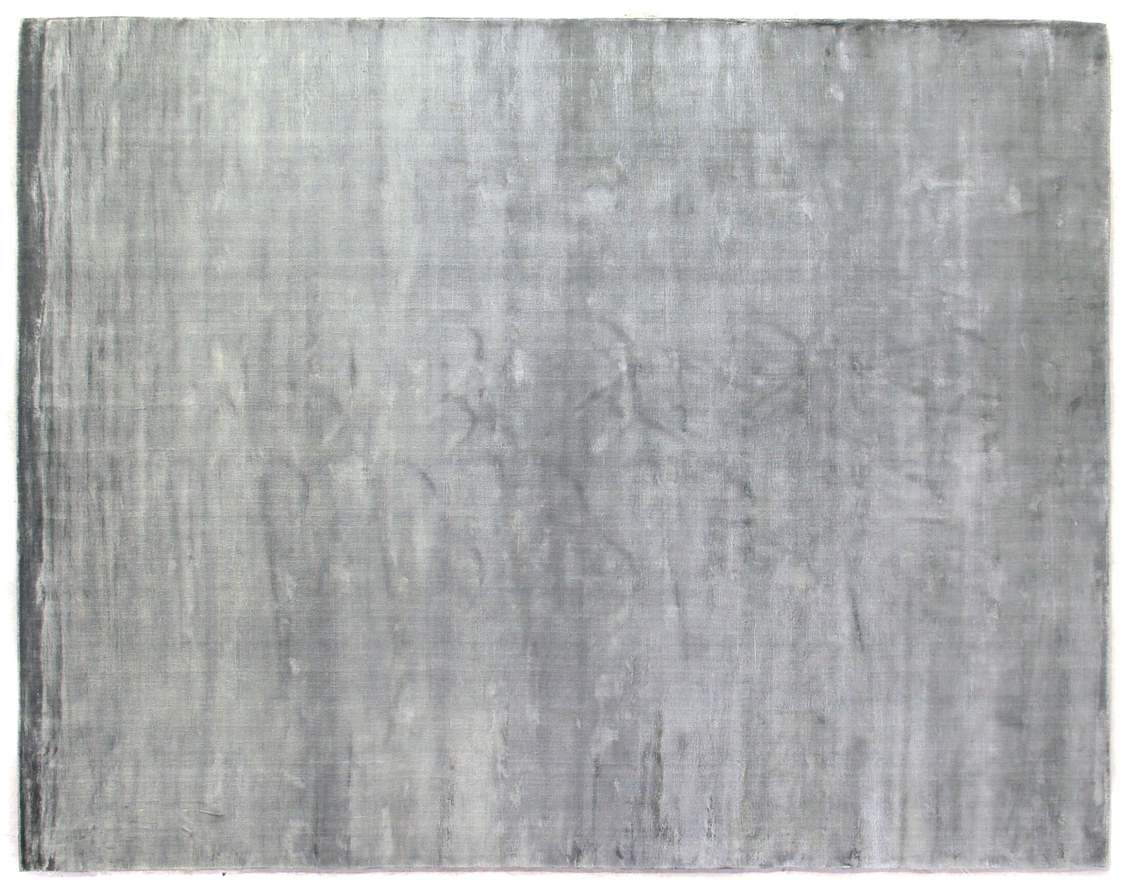 Plain Dove Hand-Knotted Silk Gray Area Rug Rug Size: Rectangle 15' x 20'
