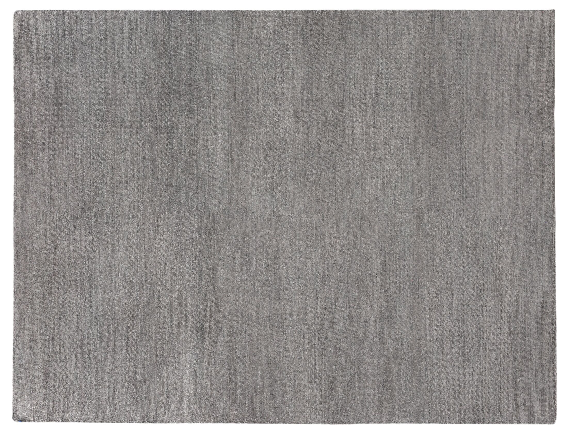 Perry Hand-Knotted Silk Gray Area Rug Rug Size: Rectangle 14' x 18'