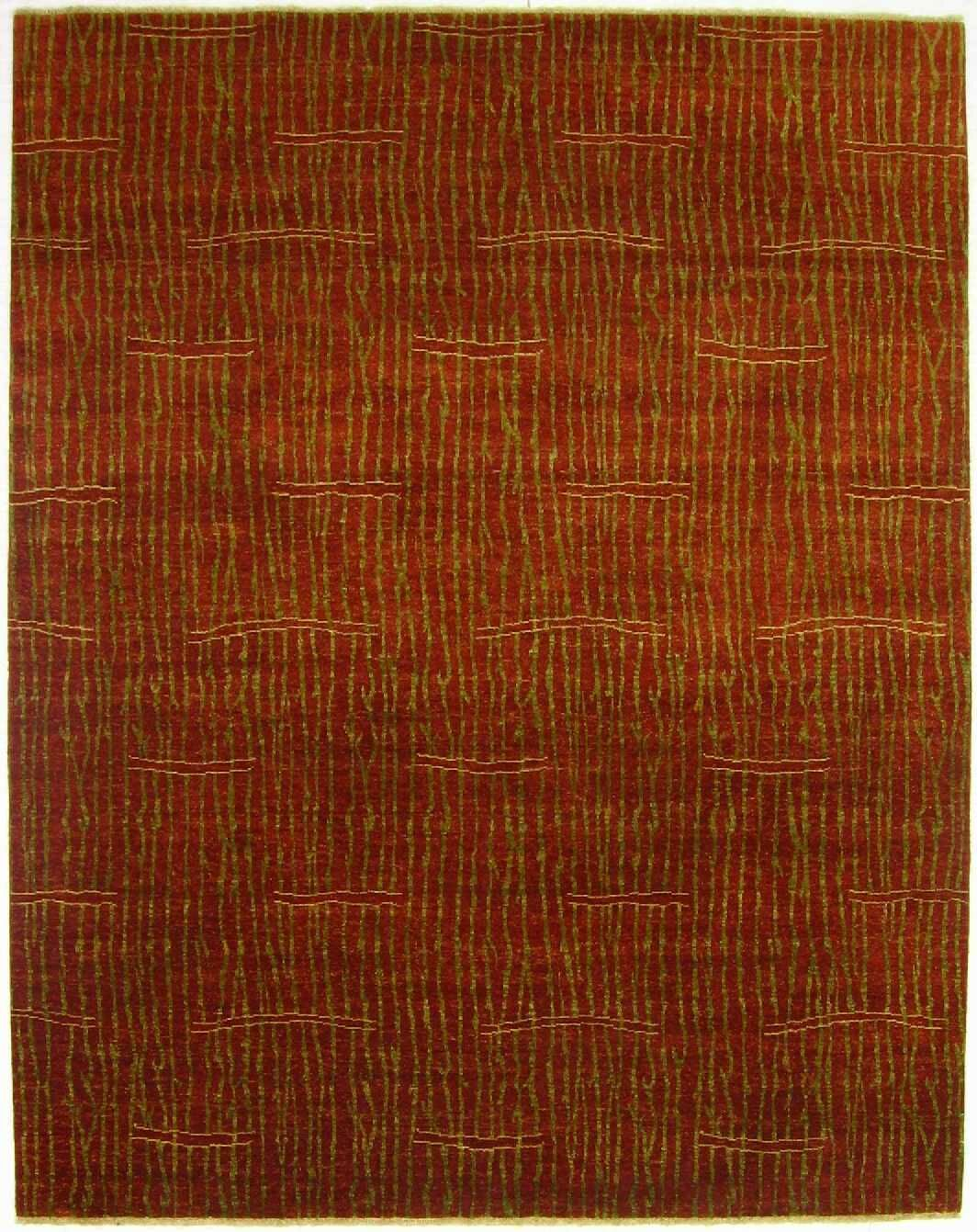 Metropolitan Hand-Knotted Wool Red Area Rug