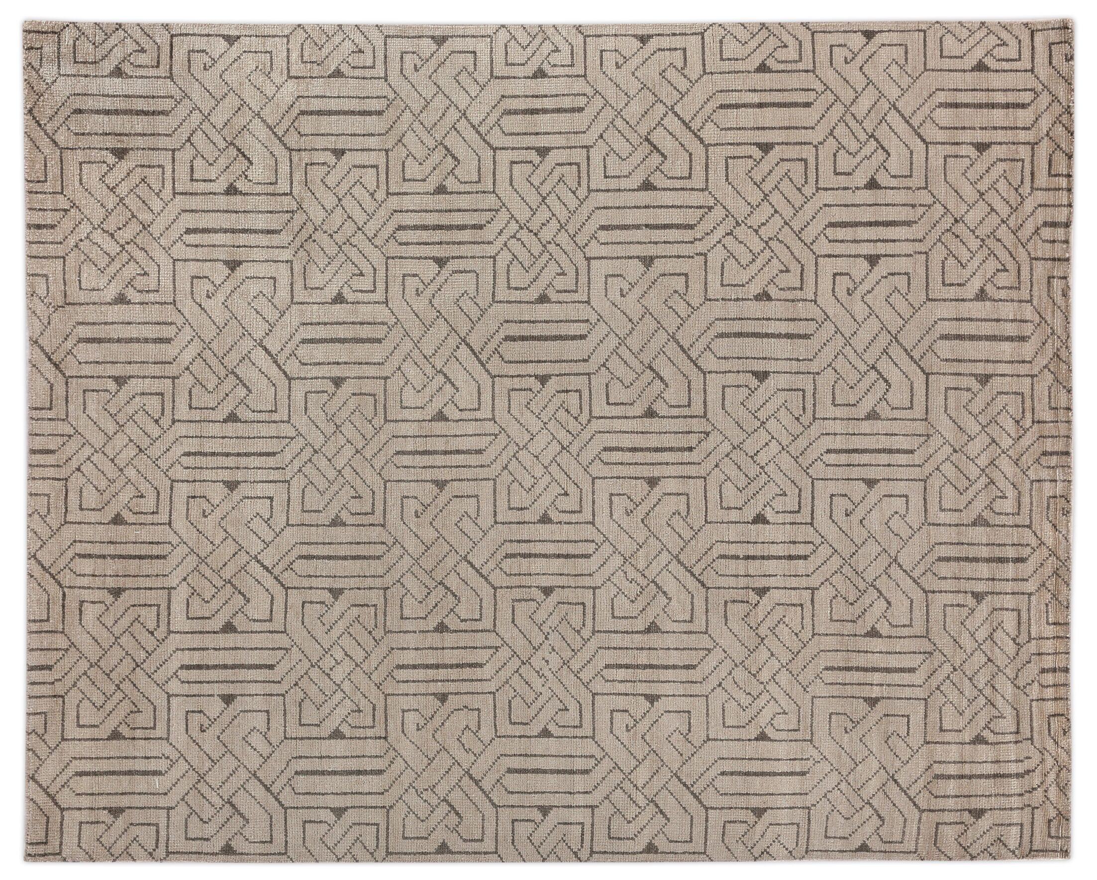 Prague Hand-Woven Ivory Area Rug Rug Size: Rectangle 6' x 9'